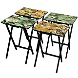 Product review for Oriental Furniture Birds and Flowers TV Tray Set with Stand