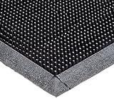Durable Heavy Duty Rubber Fingertip Outdoor Entrance Mat, 24' x 32', Black