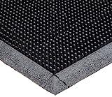 Durable Heavy Duty Rubber Fingertip Outdoor Entrance Mat, 32' x 39', Black