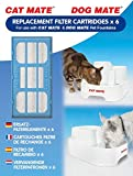 Cat Mate Genuine Replacement Filter Cartridges for use and Dog Mate Pet Fountains - Pack of 6