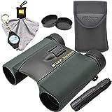 Nikon Trailblazer 8x25 ATB Binocular Waterproof Bundle with Nikon Microfiber Cleaning Cloth and Lumintrail Keychain Light