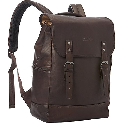 Colombian Leather Single Compartment Flapover 14.1 inch Computer Backpack. RFID Blocking Technology Offers Protection In Organizer Pockets. Holds Most Laptops With Up To A 14.1 inch Screen Compatible With Most Tablets Classy, Full Grain Colombian Leather Exterior With Tear-Resistant, Fully Lined Interior. Flapover Construction With Secure Dual Magnetic Snap Buckle Closure