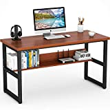 Tribesigns Computer Desk with Bookshelf Works as Office Desk Study Table Workstation for Home Office