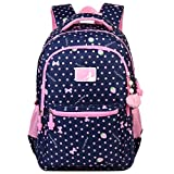 VBG VBIGER Girls School Backpack Cute Adorable Kids Backpack Elementary Dot Bookbag