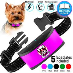 Small-Dog-Bark-Collar-Rechargeable-Anti-Barking-Collar-For-Small-Dogs-Smallest-Most-Humane-Stop-Barking-Collar-Dog-Training-No-Shock-Bark-Collar-Waterproof-Safe-Pet-Bark-Control-Device