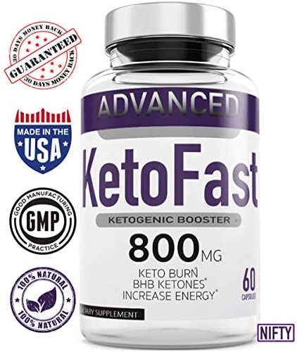 Keto Fast Diet Pills (2 Pack), Keto Fast Burn Weight Management Capsules 800 mg, Pure Keto Fast Supplement for Energy, Focus - BHB Ultra Boost Exogenous Ketones for Rapid Ketosis for Men Women 4