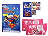 DC Super Hero Girls 32 Valentine Cards With Stickers and Lollipops Classroom Exchange Bundle
