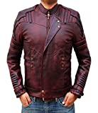 BlingSoul Guardians of The Galaxy 2 Best Surprise For Halloween - Chris Pratt Boys Star Lord 2 Jacket (3XL, Red) [PU-GLX3-RD-3XL]