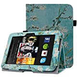 HOTCOOL Case For Kindle Fire HD 7 2012 Tablet - Slim Folding Stand Smart Cover For Amazon Kindle Fire HD 7 (Previous 2nd Generation 2012), Flower