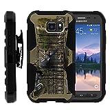 TurtleArmor | Compatible for Samsung Galaxy S6 Active Case | G890 [Hyper Shock] Hard Reinforced Rugged Impact Gel Hybrid Cover Holster Belt Clip Kickstand - Deer Hunting Season