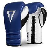 Title Boxing Luxury Sparring Gloves, Blue/Black/White, 16 oz