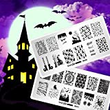 Whats Up Nails - Halloween Stamping Plates 2 pack (B031, B036) Stamping Plates for Nail Art Design