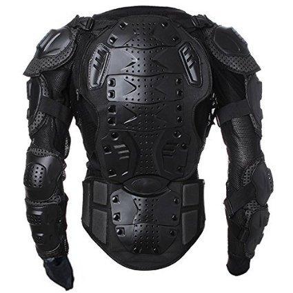 Goldfox Men's Motorbike Motorcycle Protective Body Armour Armor Jacket Guard Bike Bicycle Cycling Riding Biker Motocross Gear Black (X-Large)