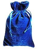 Paper Mart Tarot/Rune Dice Gift Bag Royal Blue Velvet Drawstring Bag 6x9