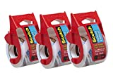 Scotch Heavy Duty Shipping Packaging Tape, 2 x 800 - Clear (3 Tapes) (1, Clear)