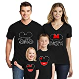 Natural Underwear Family Trip #2 Mickey Mouse Minnie Mouse Ears Cotton Mom Dad Family T Shirts Family Vacations 2019 Crew Neck T Shirts for Boys Girls Women Men Black Kids Girls 5T