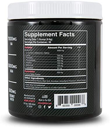 MDRN Athlete Intra9 | All 9 Essential Amino Acids EAA | 7 Grams | 2:1:1 Branched Chain Amino Acids BCAA | Keto | Recovery and Enhanced Hydration | Cherry Limeade (30 Servings) 8