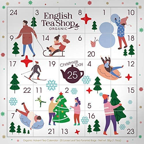 DEU English Tea Shop Calendario dell'Avvento con Immagini Componibili Tè del Natale in Cofanetto - 1 x 25 Bustine di Tè (50 Grammi)