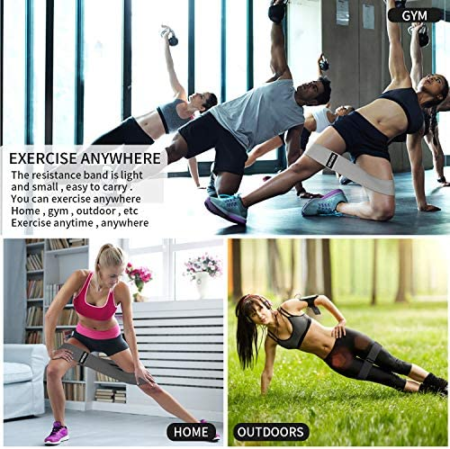 Hurdilen Resistance Bands Loop Exercise Bands Booty Bands,Workout Bands Hip Bands Wide Resistance Bands Hip Resistance Band for Legs and Butt,Activate Glutes and Thigh 9