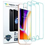 Tech Armor Apple iPhone 7, iPhone 8 (4.7-inch) HD Clear Film Screen Protector (Not Glass) [3-Pack]