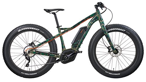 "IZIP E3 Sumo 26"" Fat Tire Electric Mountain Bike with 250W Bosch CX Mid-Motor and 36V, 400Wh Lithium Battery, 2018 Model, Green Camo, 17""/Medium"