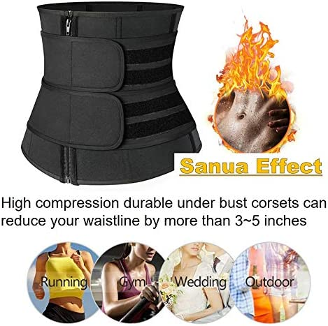 DEYACE Waist Trainer for Women Weight Loss Everyday Wear Neoprene Sweat Belt Waist Trimmer Plus Size 3