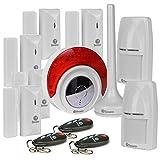 Swann SRHOM-ALARMC Home Wireless Alarm System w-Wireless Indoor Siren & Window-Door Sensors White