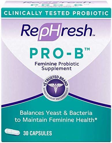 Rephresh Pro-B Probiotic Feminine Supplement, 30 Capsules ( Pack of 3) 1
