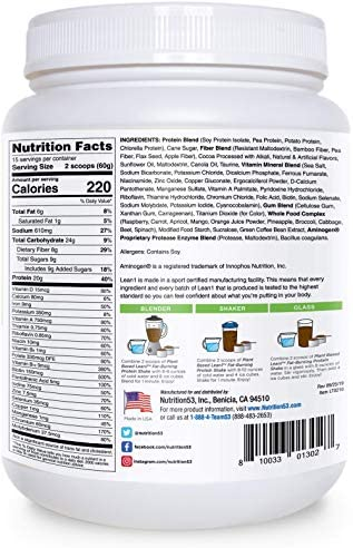 LEAN1 Nutrition 53 Meal Replacement Powder for Weight Loss, Fat Burner, Appetite Control, Plant Based Chocolate (31.7 Ounce) 2