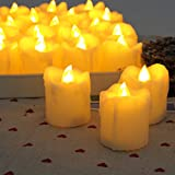 Candle Choice Flameless Candle with Timer, 6 Hours On and 18 Hours Off, 12 Pack Battery Votive Candles Timers, 1.7x2.0'