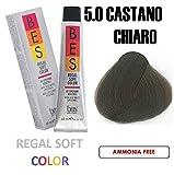 BES REGAL SOFT HAIR COLOR 2.1 OZ/60 ML 5.0 LIGHT BROWN