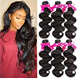 Beauty Princess Brazilian Virgin Hair Body Wave 3 Bundles 16 18 20inchs 8A Unprocessed Human Hair Weave Bundles Soft Remy Hair Weave