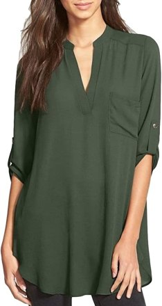 Roll Tab Sleeve Tunic