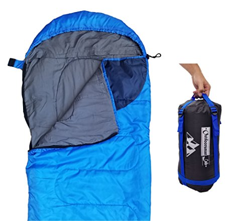 Sleeping Bag (47F/38F) Lightweight for Camping, Backpacking, Travel by OutdoorsmanLab- Kids Men Women 3-4 Season Ultralight Compact Packable Bags with Compression Sack