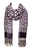 Celtic Weave Scarf, Irish Style Pashmina Scarf, Purple