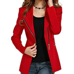 Aro Lora Women's Autumn Oversize Slim Fit Bodycon Zipper Suit Coat Jacket Blazer Outwear 9 Fashion Online Shop 🆓 Gifts for her Gifts for him womens full figure