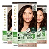 Clairol Natural Instincts, 5C Brass Free Medium Brown, Peppercorn, 3 Count