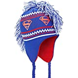 Old Glory Superman - Unisex-adult Superman - Logo Mohawk Peruvian Knit Hat Dark Blue