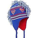 Superman - Unisex-adult Superman - Logo Mohawk Peruvian Knit Hat Dark Blue