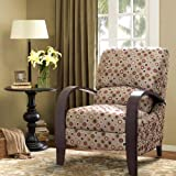 Madison Park 215227136 Archdale Recliner Chair - Solid Wood, Plywood, Deep Seat Accent Armchair Modern Classic Dotted Style Family Room Sofa Furniture, See Below Below, Red