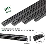 QUALITY BEMOST Auto Car All-Season Windshield Wiper Blades Refills Natural Rubber Strips (26'+16' Pair for front Windshield)