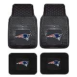 NFL New England Patriots Car Floor Mats Heavy Duty 4-Piece Vinyl - Front and Rear