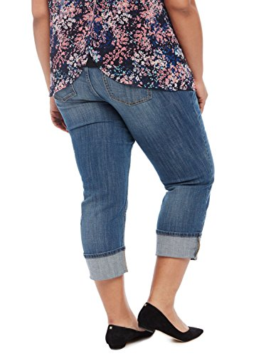 5f5f4184fa4c8 Motherhood Plus Size Highline Cuffed Maternity Crop Jeans - Only ...