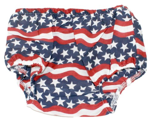 Stars and Stripes Patriotic Bloomer Diaper Cover for 4th of July