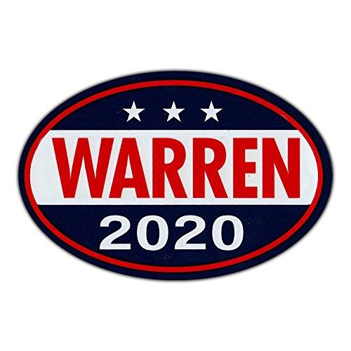 "Oval Shaped Magnet - Elizabeth Warren for President 2020 - Democrat Party Magnetic Bumper Sticker - 6"" x 4"""