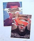 DC COmics Batman & Superman Portfolio Folders - Set of 2