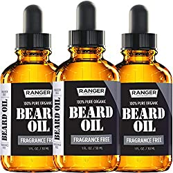Fragrance Free Beard Oil & Leave in Conditioner, 100% Pure Natural for Groomed Beards, Mustaches, and Moisturized Skin 1 oz by Ranger Grooming Co by Leven Rose (Beard Oil)  Image 5