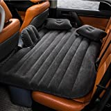 FBSPORT Car Travel Inflatable Mattress Air Bed Cushion Camping Universal SUV Extended Air Couch with Two Air Pillows (Gray)
