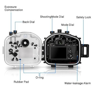 Sea-Frogs-Underwater-Camera-Housing-Case-wWide-Angle-Lens-Kit-40M130FT-Waterproof-Housing-for-Sony-A7-III-A7R-III-28-70mm-Lens