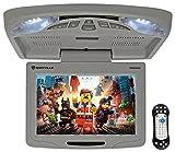 Rockville RVD12HD-GR 12' Grey Flip Down Car Monitor DVD/USB/SD Player + Games